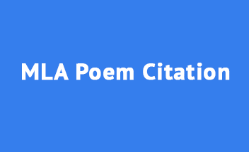 How to Cite a Poem in MLA Style